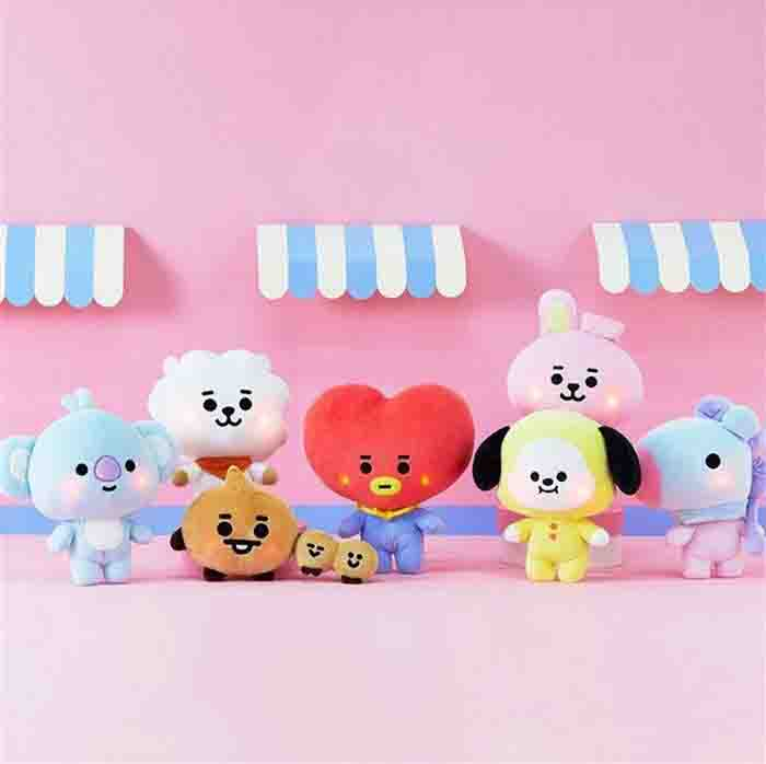 BT21 BABY LIGHT UP CHEEKS STANDING DOLL