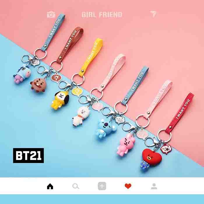 BT21 Cartoon Cute Keychain