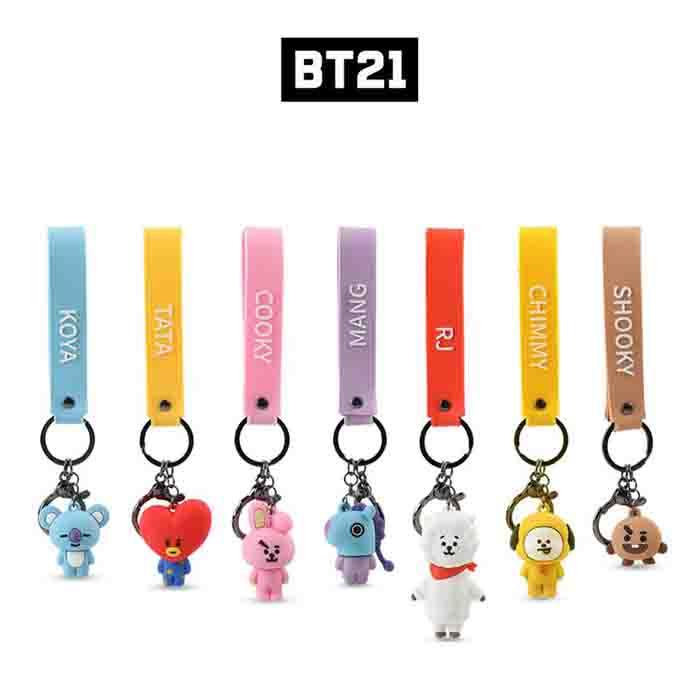 BT21 Cartoon Doll Keychain