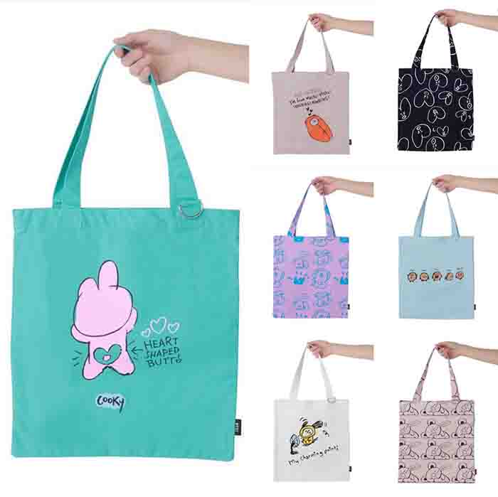 BT21 Cartoon Printed Canvas Handbag