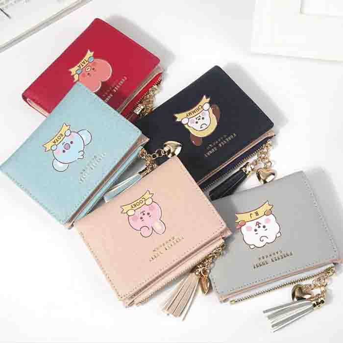 BT21 Cartoon Tassel Wallet