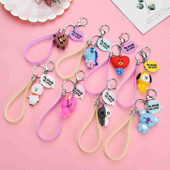 BT21 Character Cute Colorful Keychain