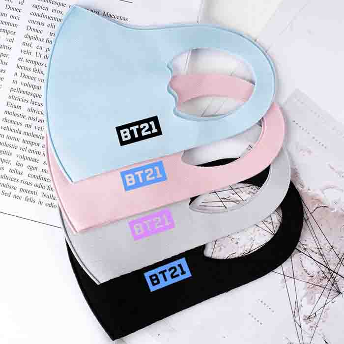 BT21 Color Printed Children's Mouth Mask
