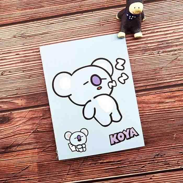 BT21 Cute Character Mini Notebook