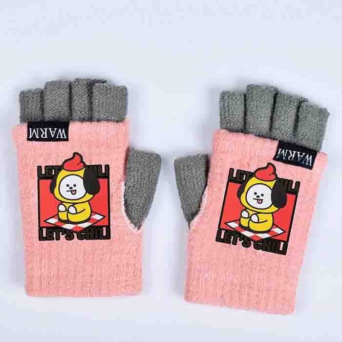 BT21 Fingerless Knitted Gloves