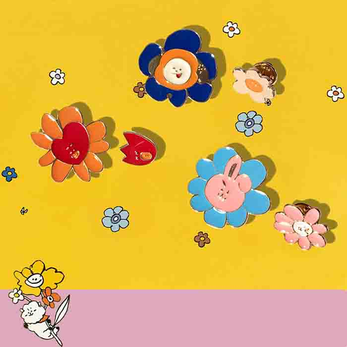 BT21 Flower Series Brooch