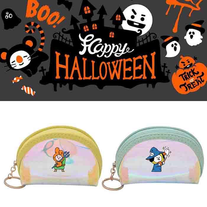 BT21 Halloween Laser Color Wallet