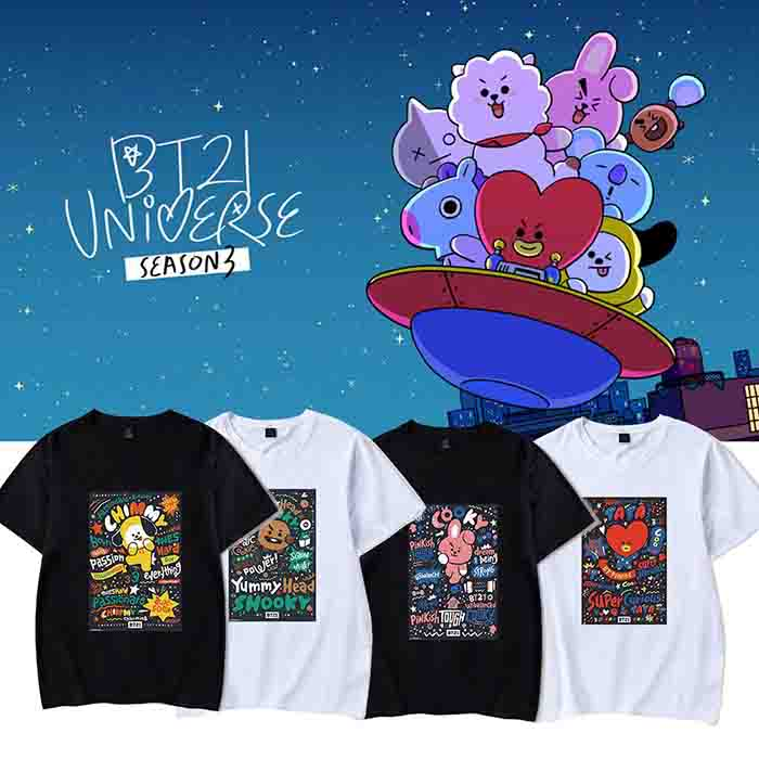 BT21 Round Neck T-shirt