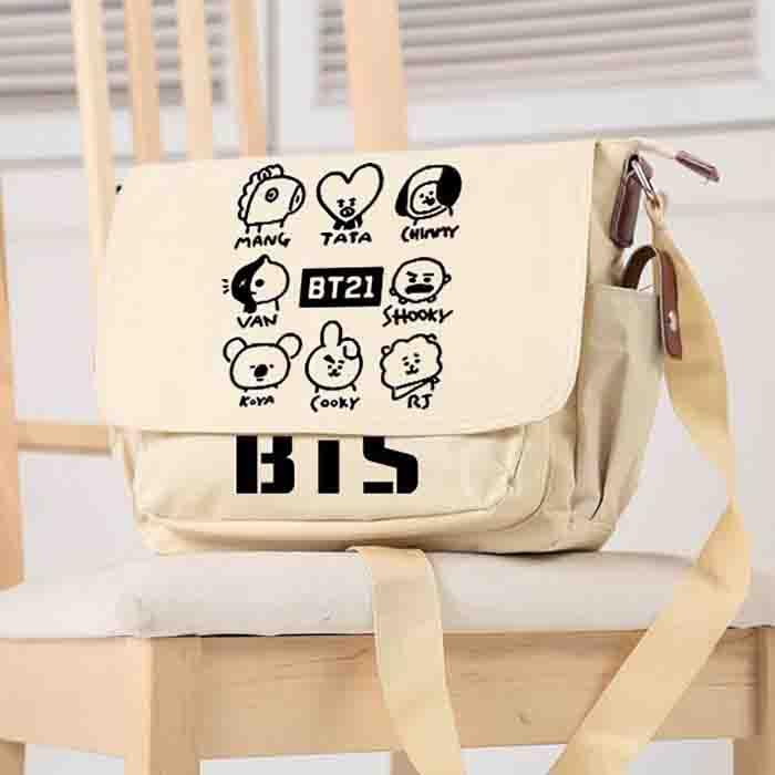 BT21 Shoulder Messenger Canvas Bag