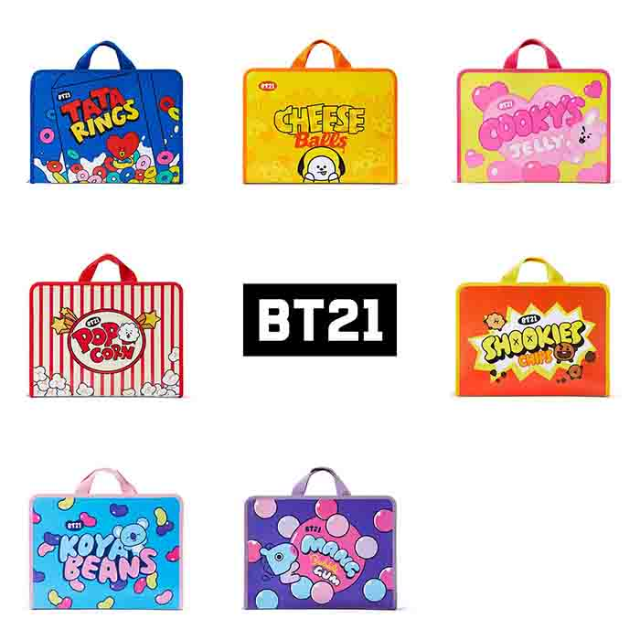 BT21 sweet zipper file folder