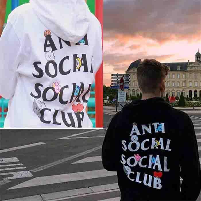 BT21 X ANTI SOCIAL SOCIAL CLUB Hoodie
