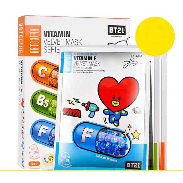 BT21 X BRTC Facial Mask Sheet