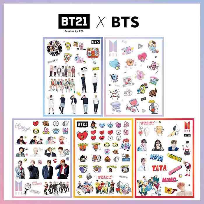 BT21 X BTS Stickers