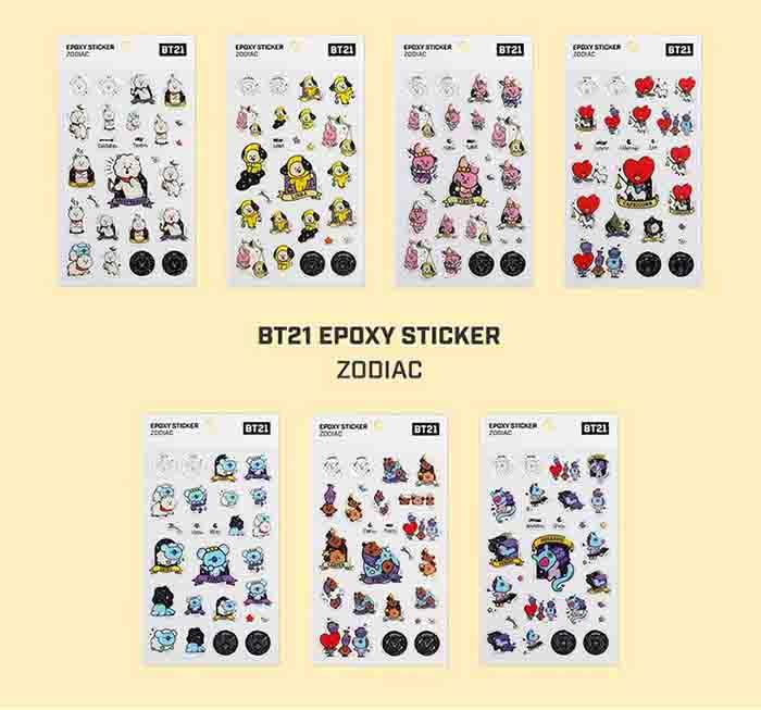 BT21 X Constellation stickers