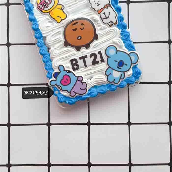 BT21 X cream phone case