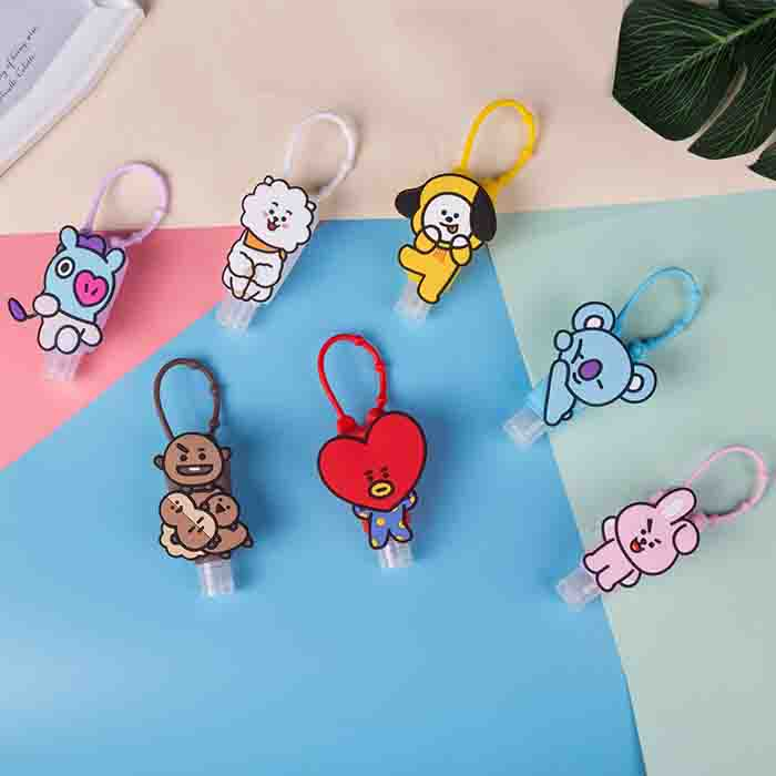 BT21 X Disposable hand sanitizer protective shell