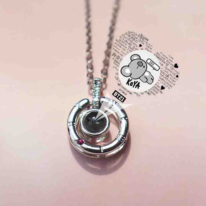 BT21 X I love you necklace