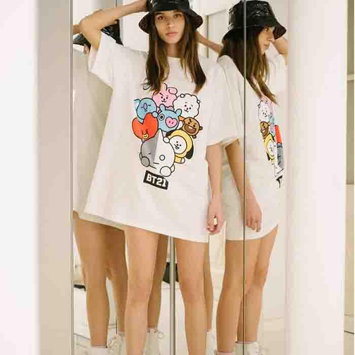 BT21 X T-shirt dress