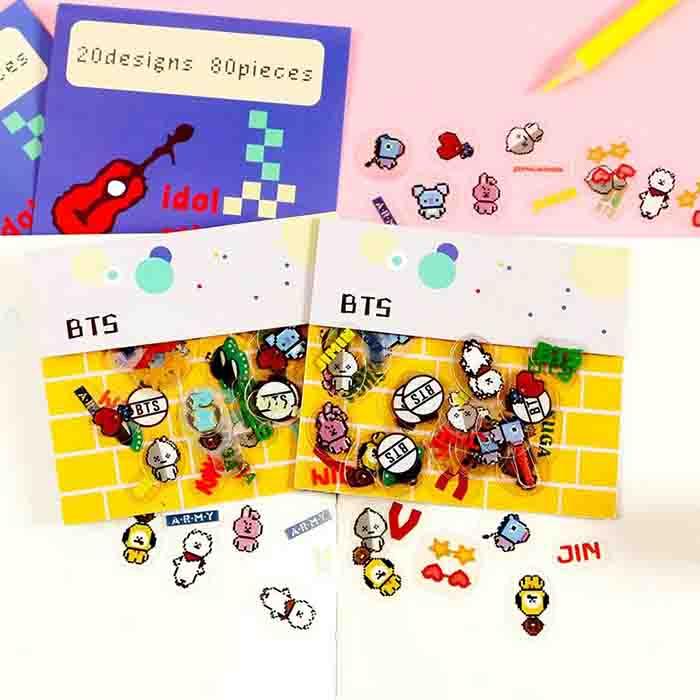 BT21 X transparent stickers