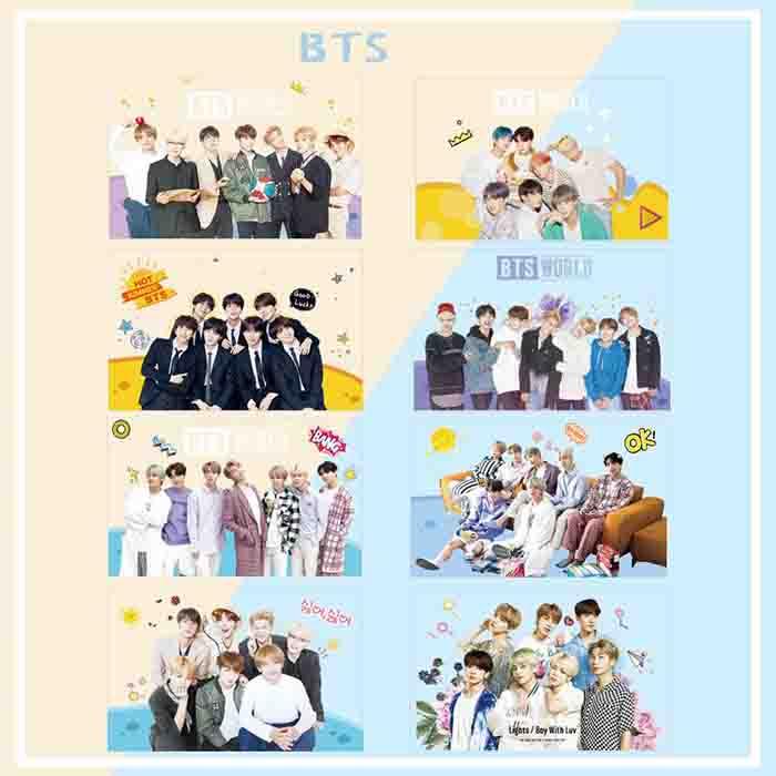 BTS 8 Sheets Transparent Card