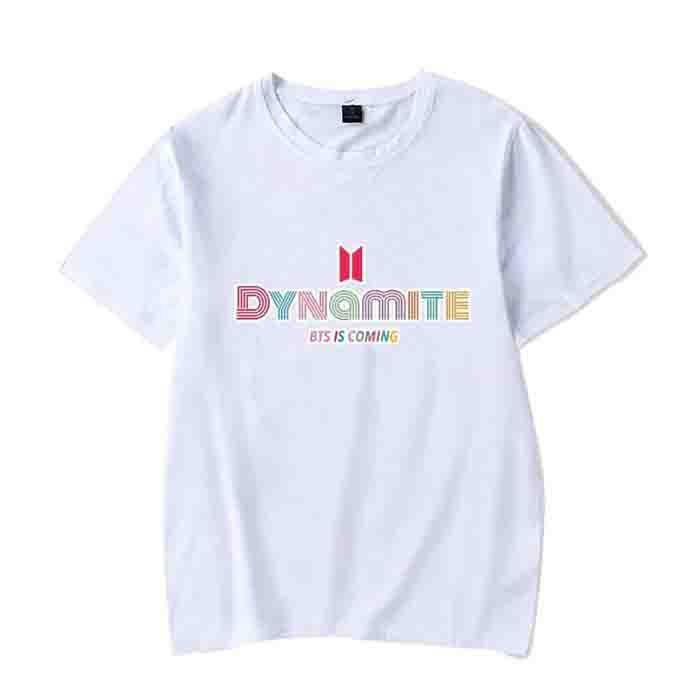 Kpop BTS Nouvel Album Dynamite T-Shirt Manches Courtes col Rond Cadeau pour A.R.M.Y
