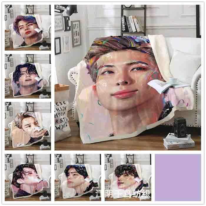 BTS Printed Double Blanket