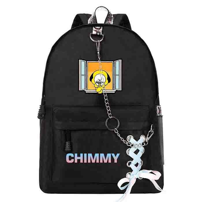 BTS BT21 Cartoon Black Backpack