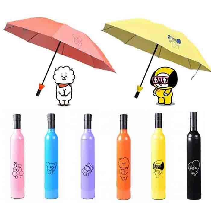 BTS BT21 Character Folding Umbrella