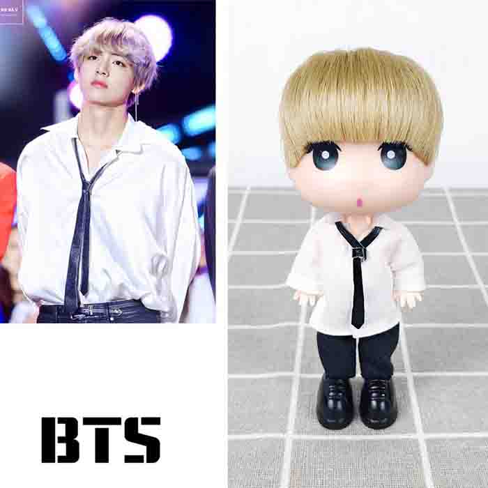 BTS Cartoon TaeHyung Hand-made Doll (13CM)