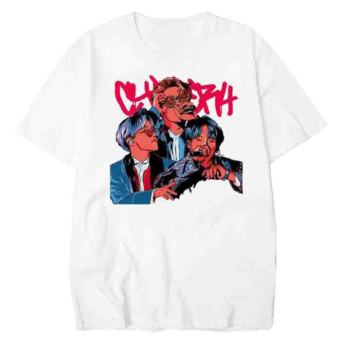 BTS Comic Print T-shirt