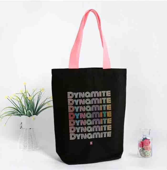 BTS Dynamite Black Canvas Bag