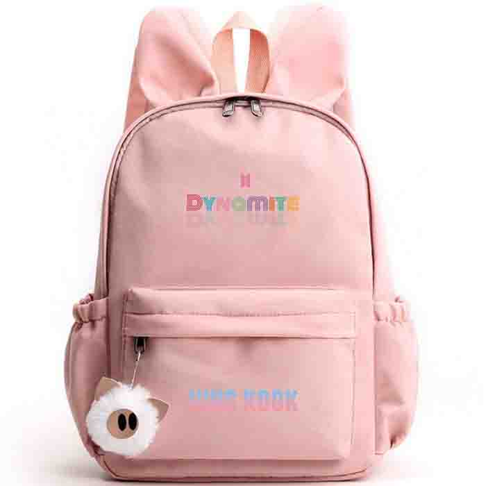 BTS Dynamite Bunny ears Backpack