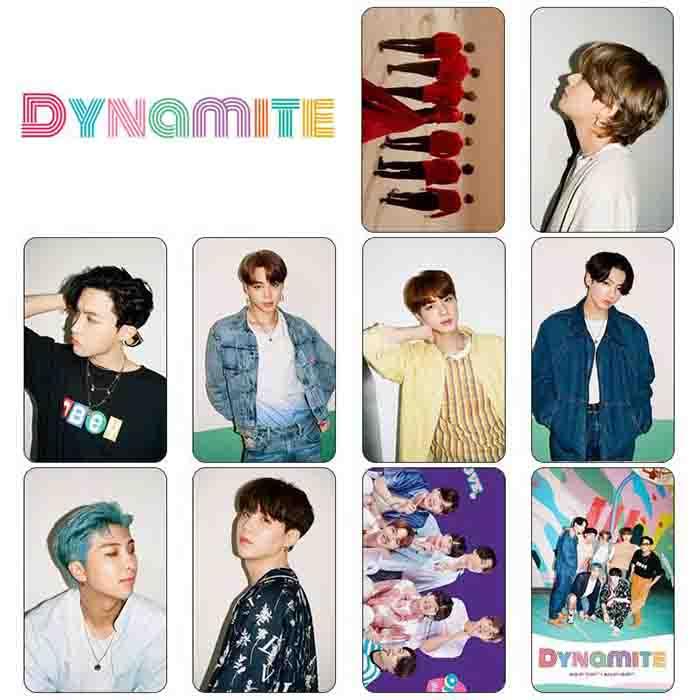 BTS Dynamite Crystal Card Sticker