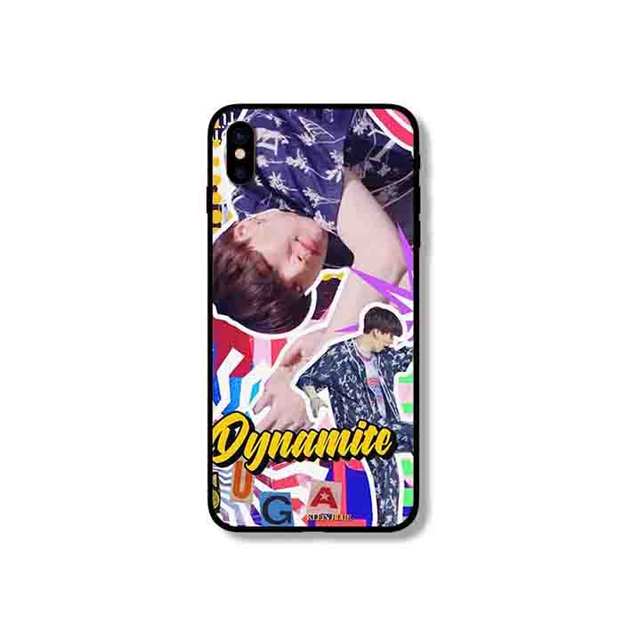 BTS Dynamite Glass iPhone Case