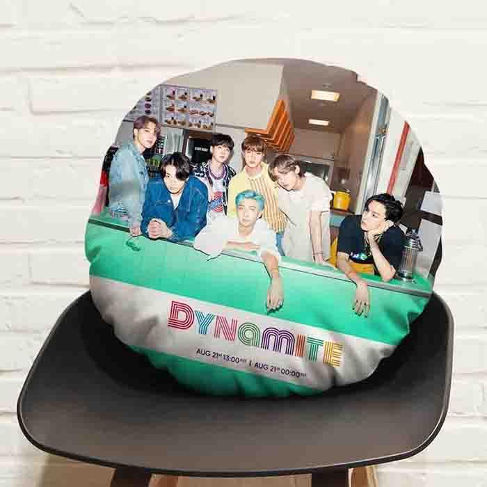 BTS Dynamite Round Pillow Cushion