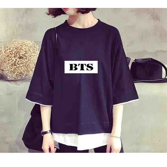 BTS Fake Two Short Sleeves