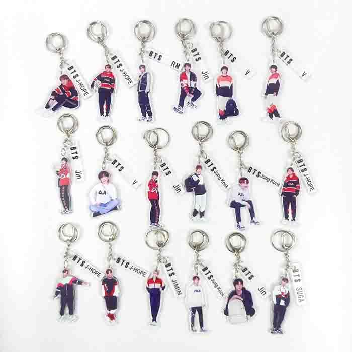 BTS Fila Keychain
