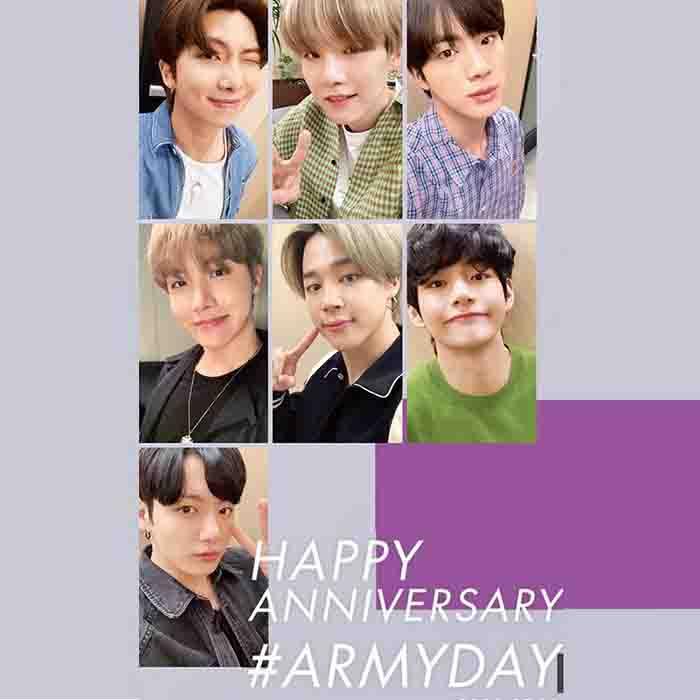 BTS Happy Anniversary Poster Sticker