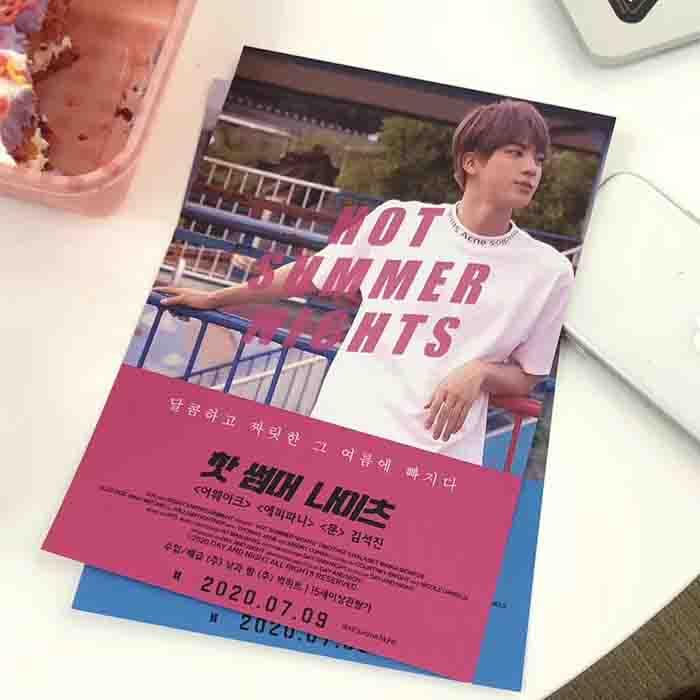 BTS Hot Summer Nights A5 Poster