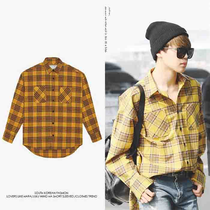 BTS Jimin check shirt