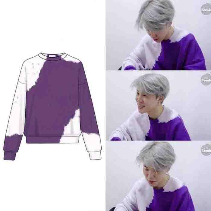 BTS Jimin Purple Tie Dye Sweater