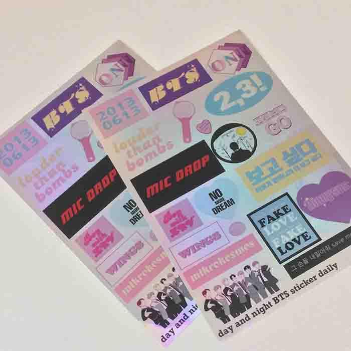 BTS Laser Stickers