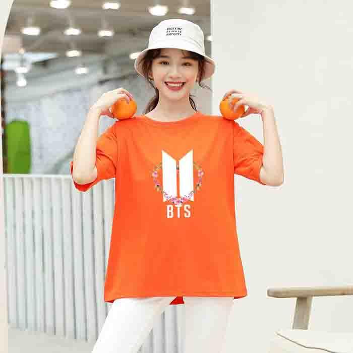 BTS Flower Logo Color T-shirt