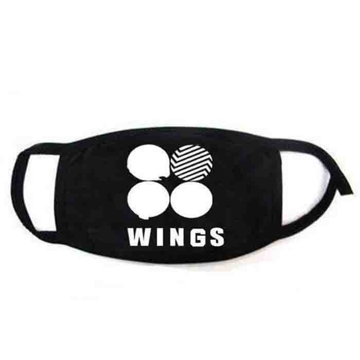 BTS Logo Flower Wings Mask