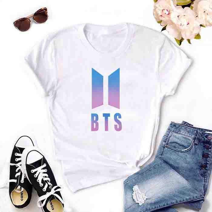 BTS Logo Printed T-shirt