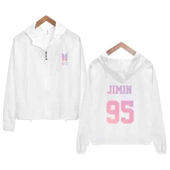 BTS Logo Zipped Up Hooded Jacket