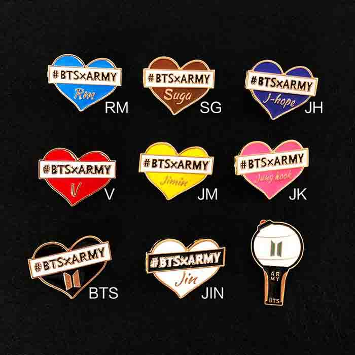 BTS Member Name Badge
