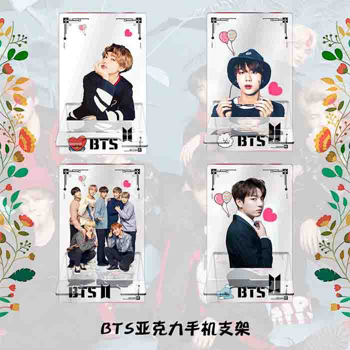 BTS Member Acrylic Phone Holder