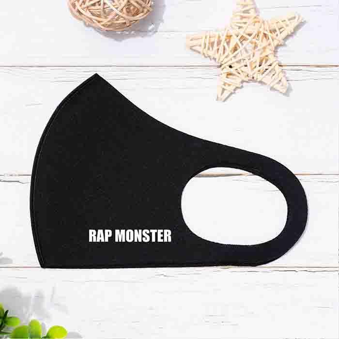 BTS Member Name B & W Printed Mask