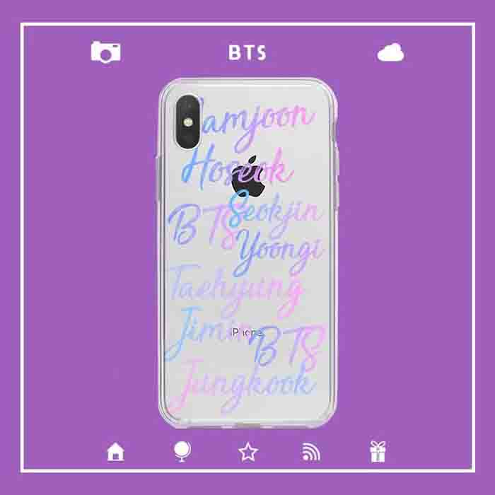 BTS Member Transparent iPhone Case